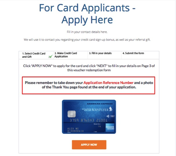 Applying for a credit card today heres a walk through of what we as mentioned earlier we are choosing the american express krisflyer card we are also choosing the ntuc fairprice vouchers but you can choose the voucher negle Gallery